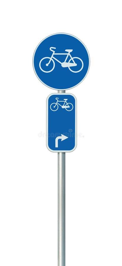 Bicycle o número da rota e o sinal de estrada da pista do ciclismo, grande detalhado imagem de stock
