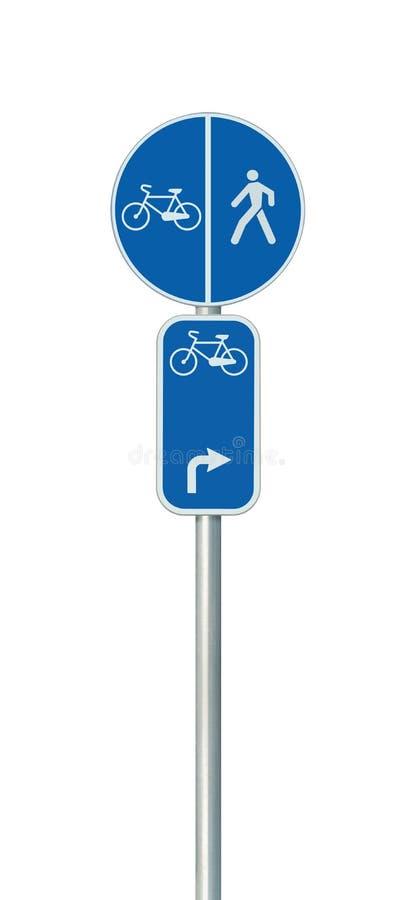 Bicycle o número da rota, o ciclismo e o sinal de estrada da pista do pedestre imagem de stock royalty free