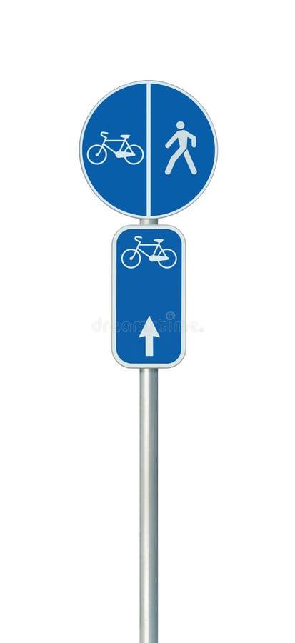 Bicycle o número da rota, o ciclismo e o sinal de estrada da pista do pedestre, grande bicicleta vertical isolada detalhada do ci fotografia de stock royalty free