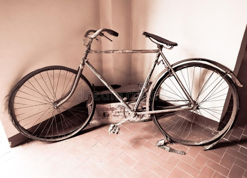 Bicycle of other times, within the Calamita Museum royalty free stock photography