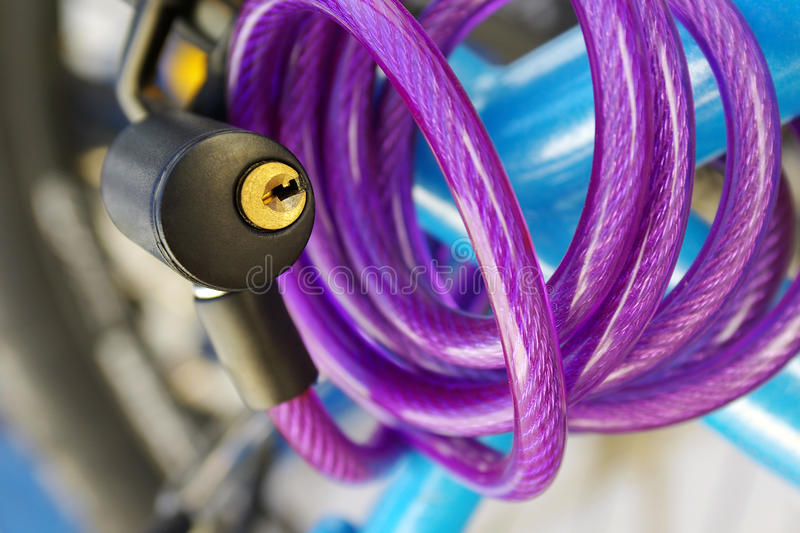 Download Bicycle Padlock stock image. Image of cord, purple, padlock - 17204859