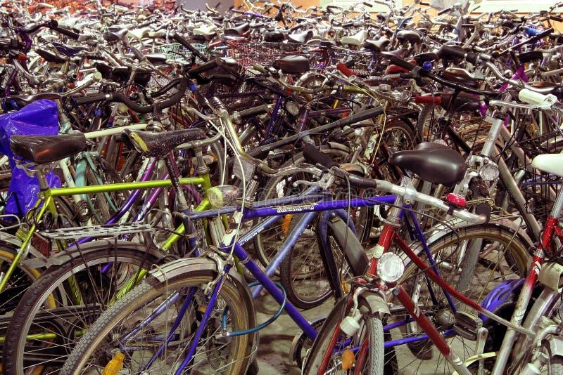Download Bicycle park stock image. Image of rack, mess, parkinglot - 111047