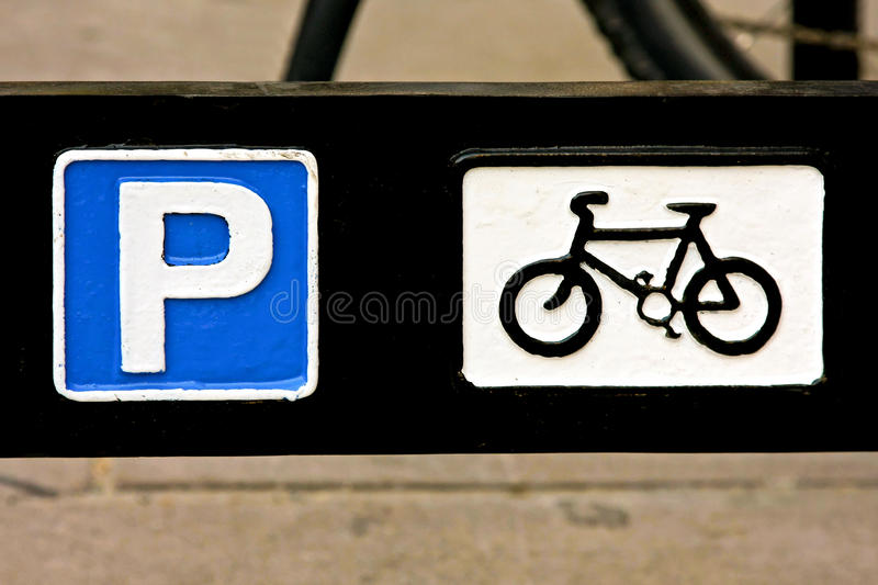 Download Bicycle parking stock photo. Image of mark, traffic, metal - 15151900
