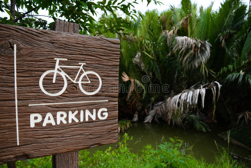 Bicycle parking royalty free stock photography