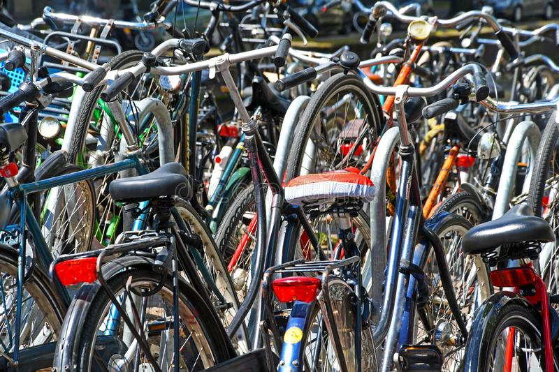 Bicycle Parking Space stock photography