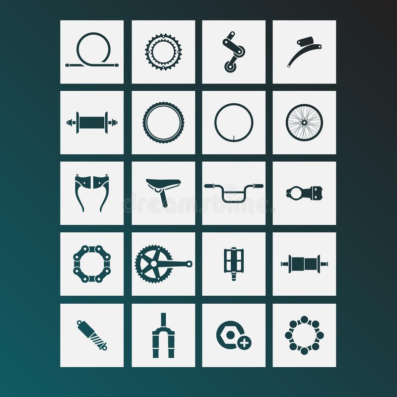 Free Bicycle Parts Icons Stock Image - 50832931
