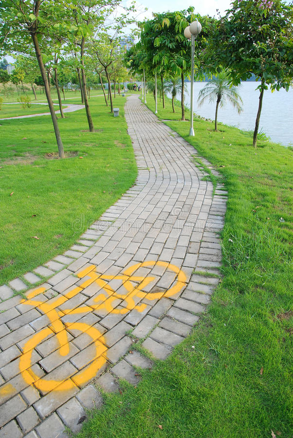 Bicycle path royalty free stock photos