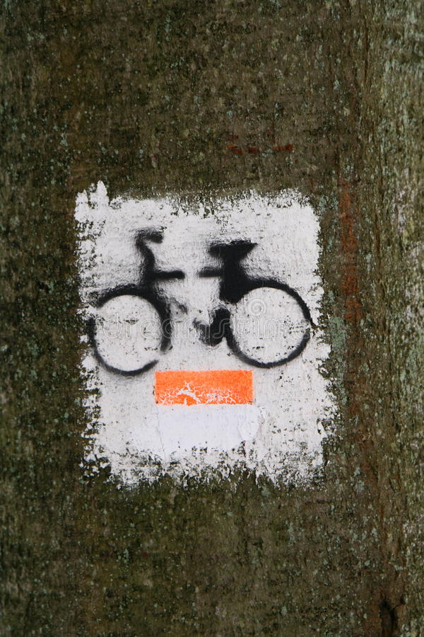 Download Bicycle path symbol stock photo. Image of navigation - 12561928