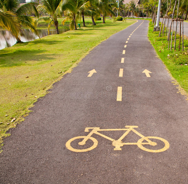 Download Bicycle Pathway stock image. Image of regulation, recreational - 18688671