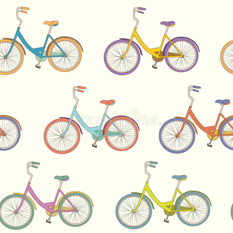 Download Bicycle pattern stock vector. Image of drawing, seat - 38457494