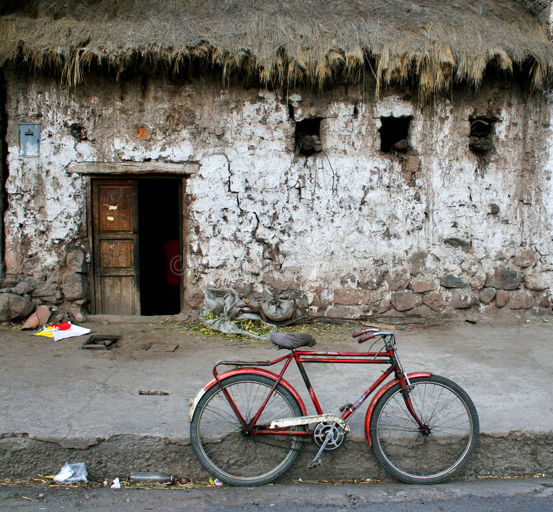 Bicycle in Peru royalty free stock images