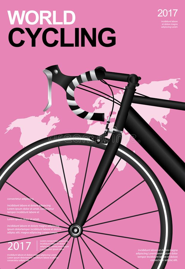 Bicycle Poster Design royalty free illustration