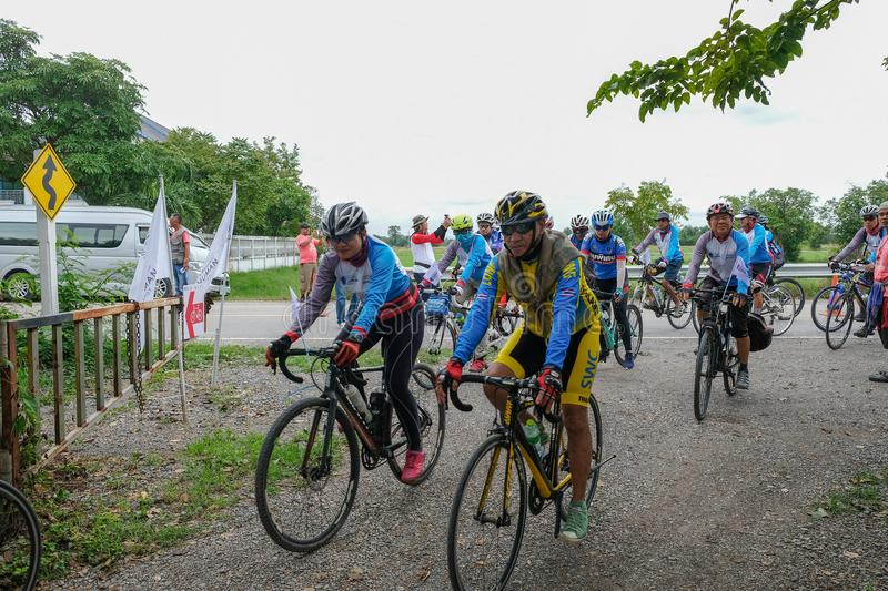 Bicycle public event, Lopburi, Thailand royalty free stock images