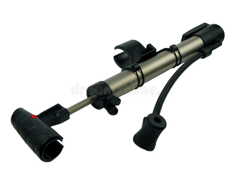 Bicycle pump 2 stock photography