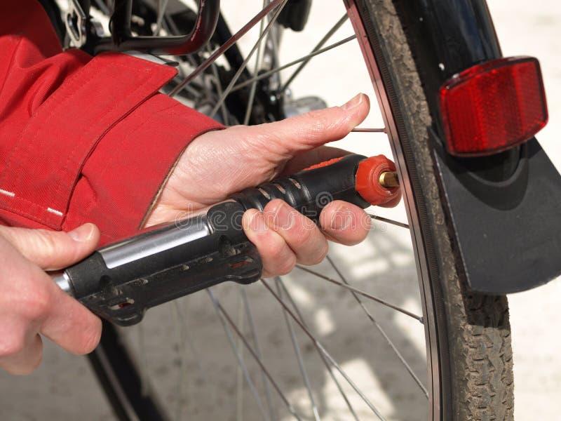 Bicycle pump, close up stock images