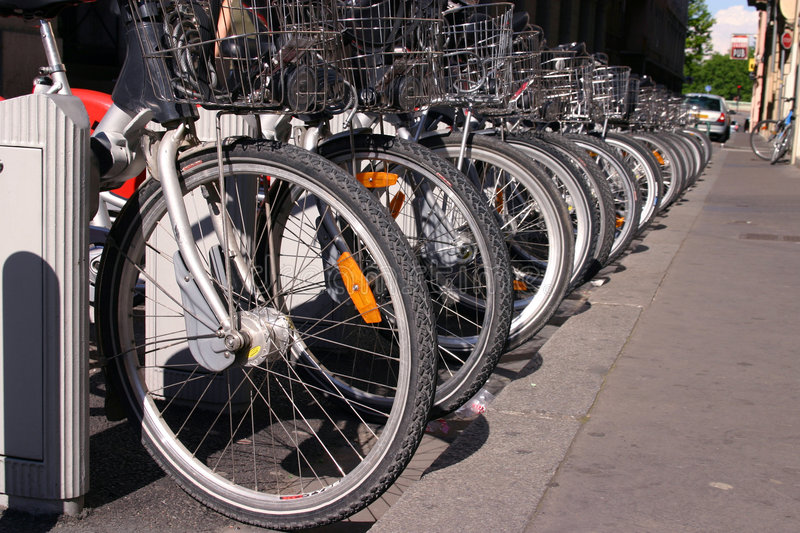 Bicycle rack stock image