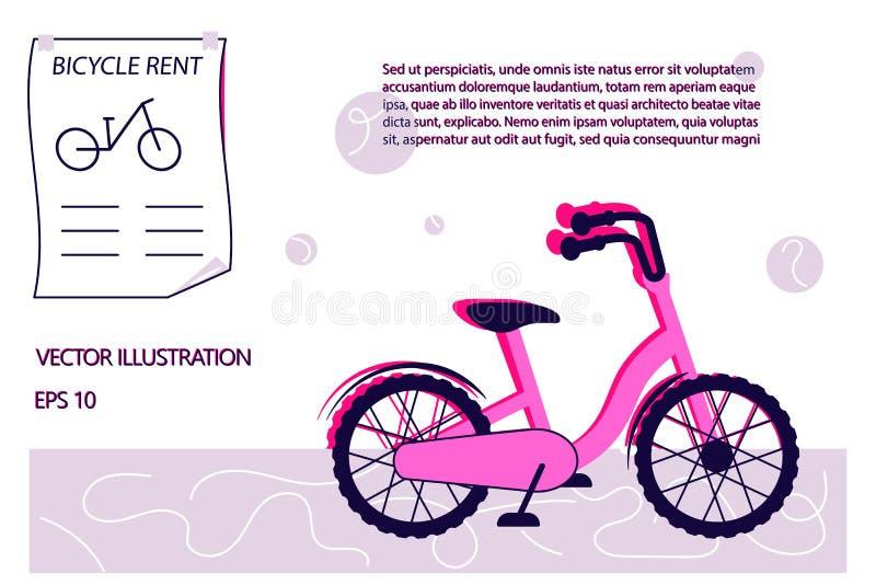 Bike rental campaign concept vector illustration