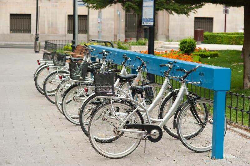 Bicycle rental royalty free stock photo