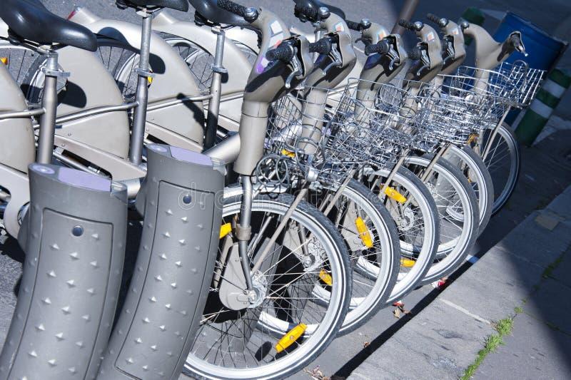 Download Bicycle rental stock image. Image of hire, rental, street - 27687355