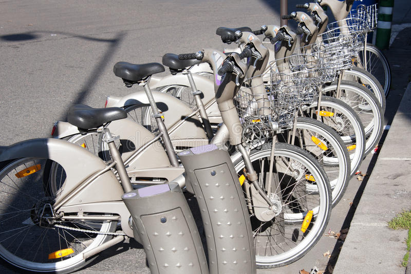 Bicycle Rental Stock Images