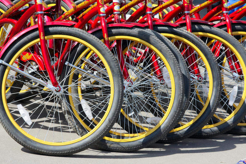 Bicycle rental royalty free stock image