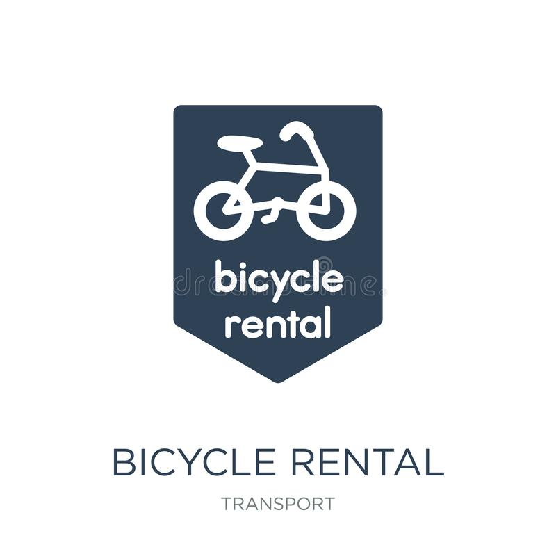 bicycle rental icon in trendy design style. bicycle rental icon isolated on white background. bicycle rental vector icon simple royalty free illustration