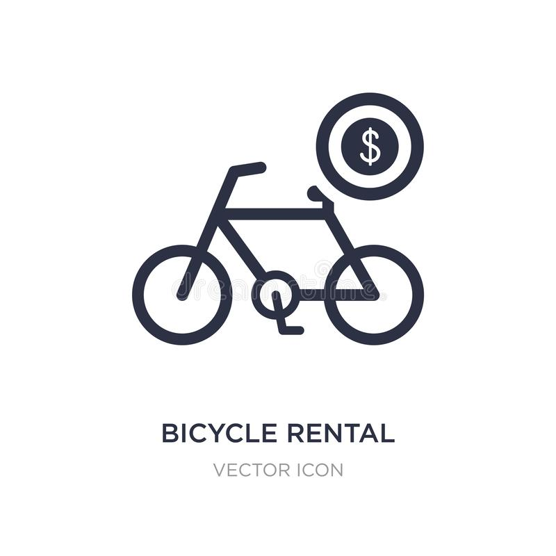 bicycle rental icon on white background. Simple element illustration from Transport concept stock illustration