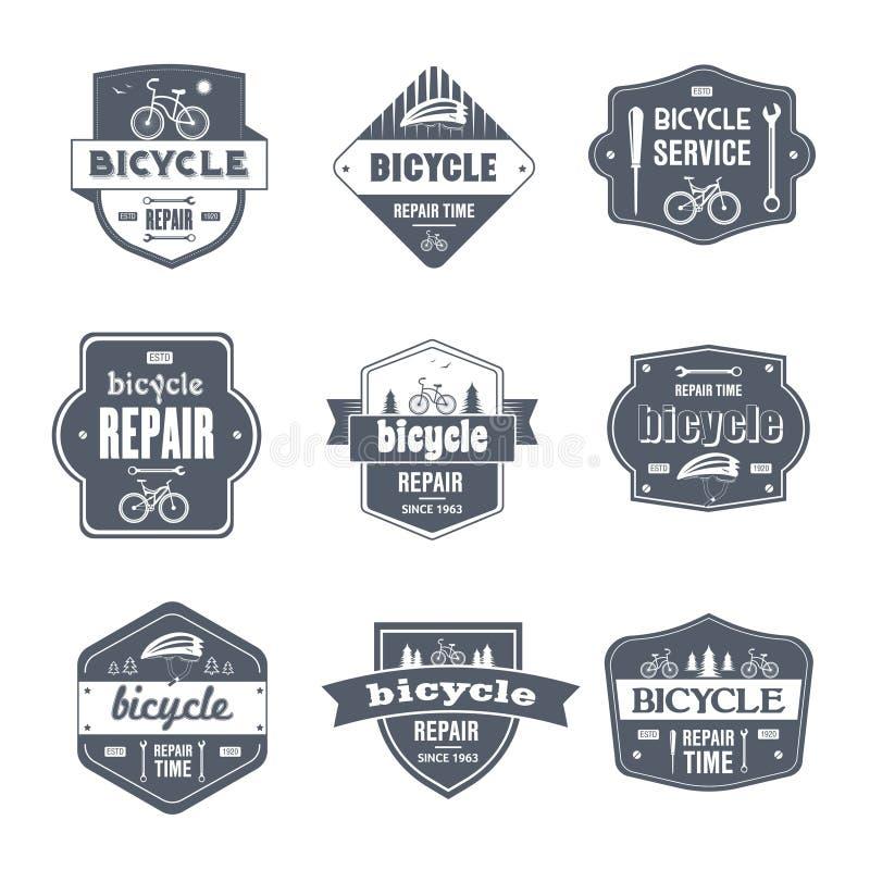 Bicycle Repair - vintage vector set of logos vector illustration