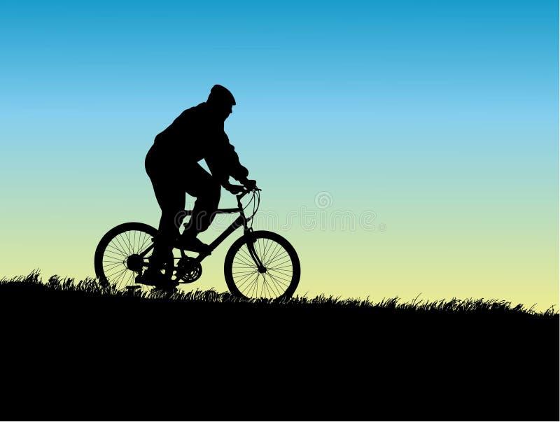 Bicycle ride stock illustration