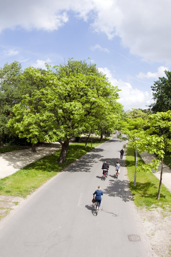 Bicycle riders vondel park amsterdam