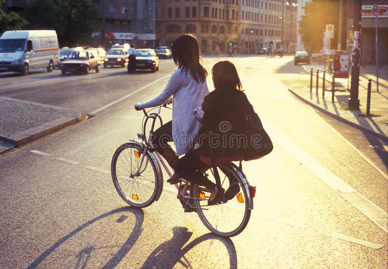 Download Bicycle riding in Berlin editorial photography. Image of bike - 20003027