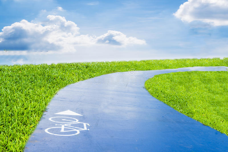 Bicycle road royalty free stock images