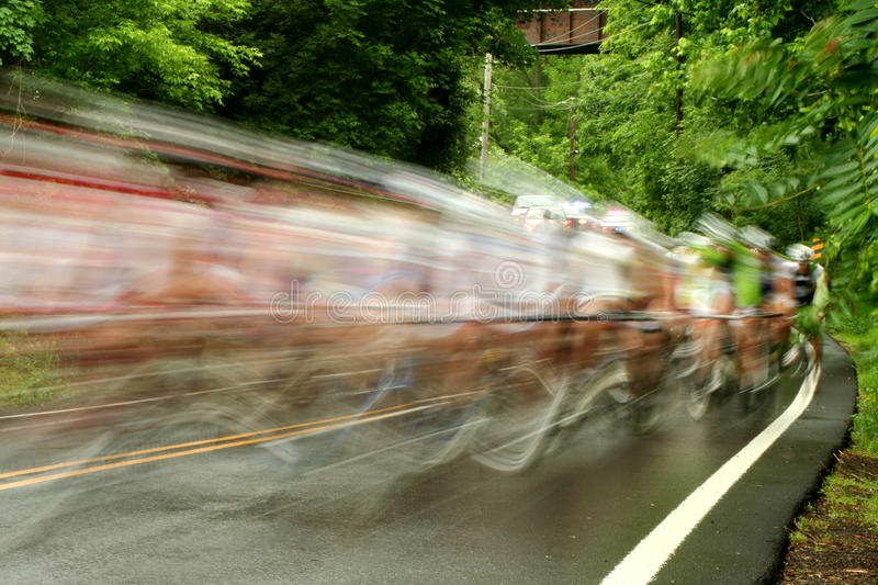 Bicycle Road Race Royalty Free Stock Photo