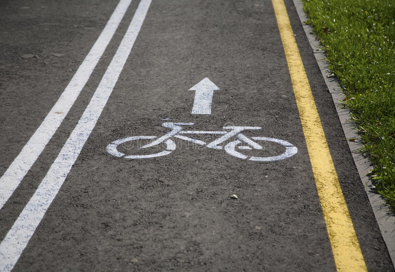 Bicycle road with sign