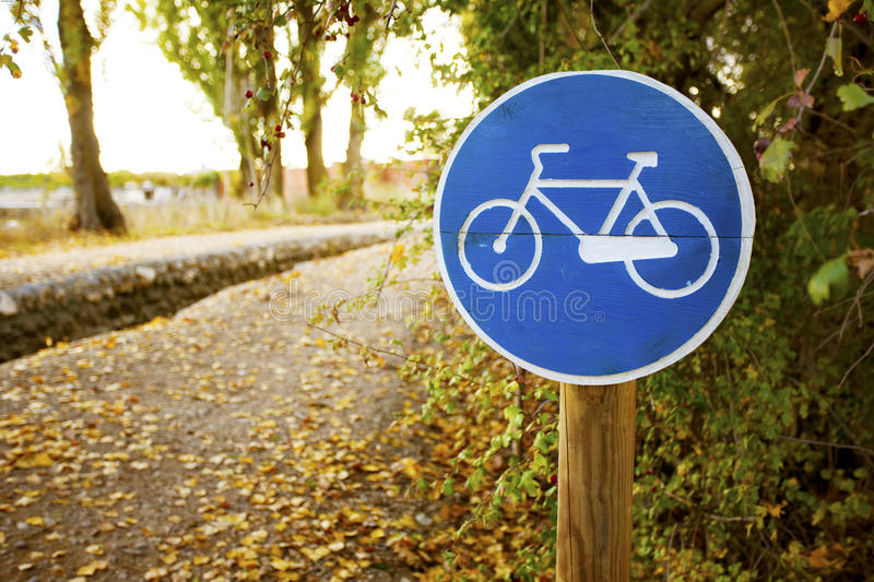 Download Bicycle road sign stock image. Image of road, copy, outdoors - 28360629