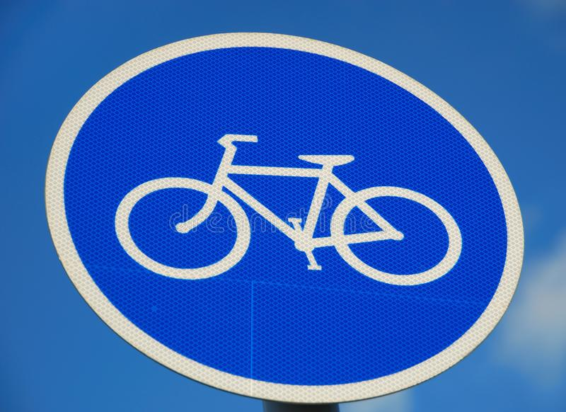 Bicycle road sign stock photos