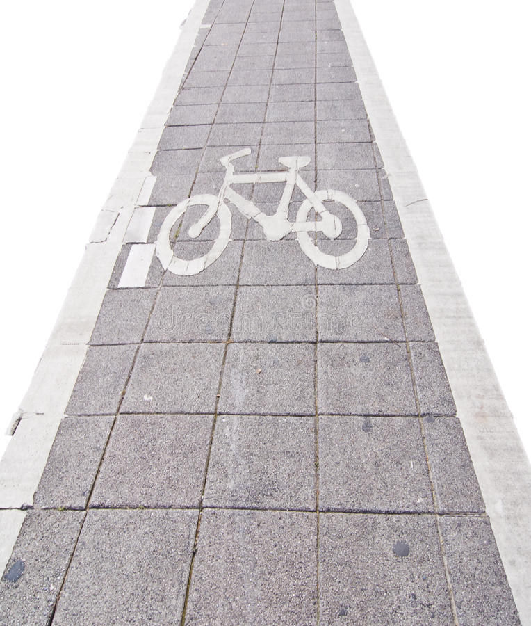 Download Bicycle Road Sing On White Isolate Stock Image - Image of peace, road: 21046247
