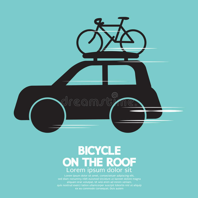 Bicycle On The Roof stock illustration