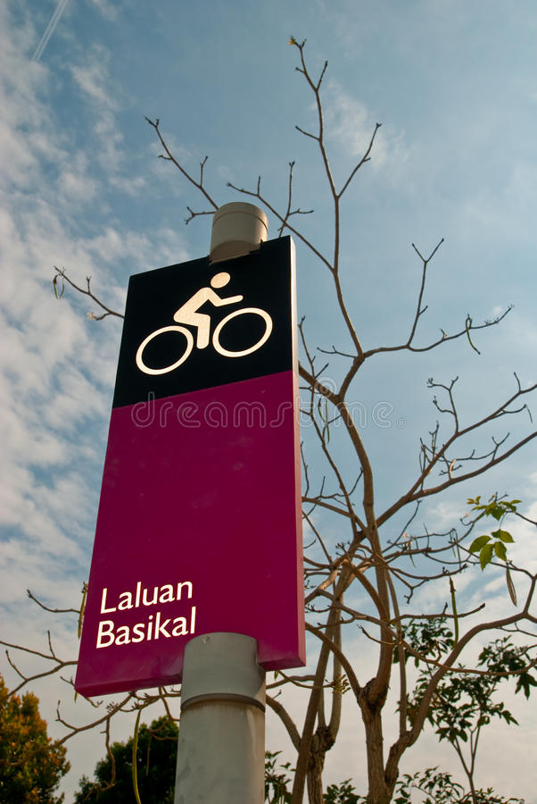 Download Bicycle Route stock image. Image of icon, lane, path - 23259095