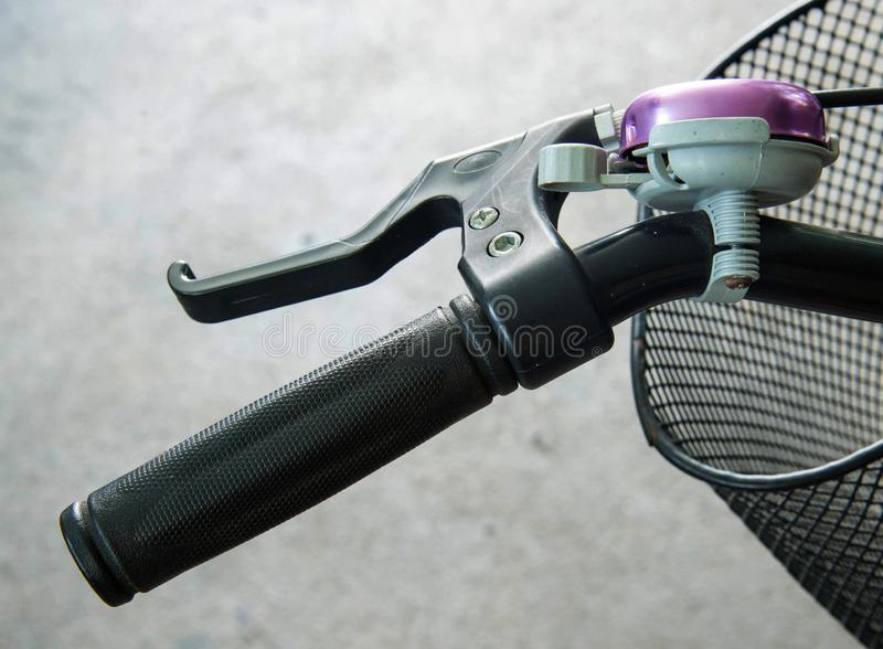 Bicycle rubber handle royalty free stock photos