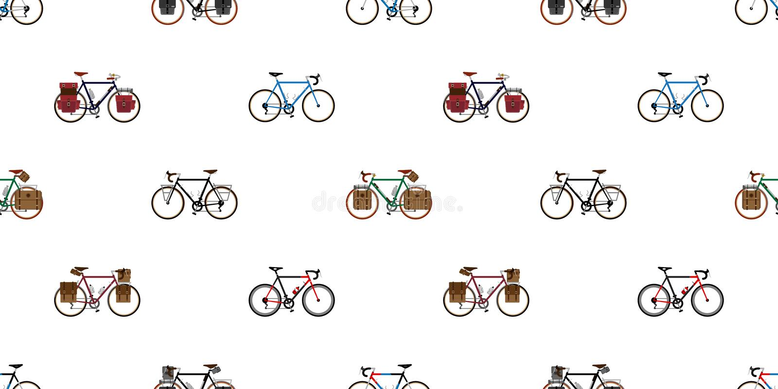 Bicycle Seamless Pattern vector cycling isolated vintage wallpaper background illustration graphic vector illustration