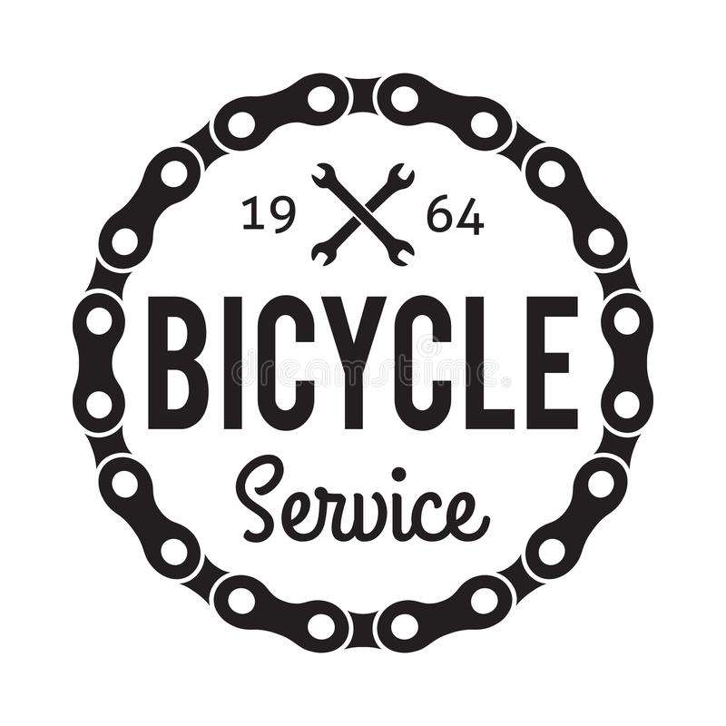 Bicycle Service Badge/Label stock illustration