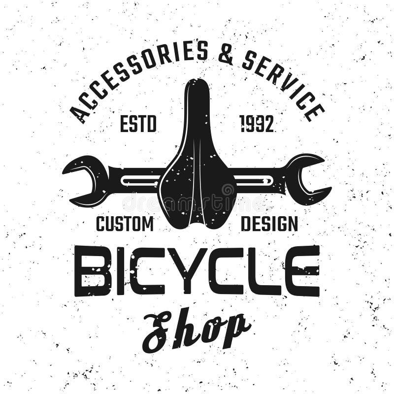 Bicycle service vector emblem, badge, label, logo stock illustration