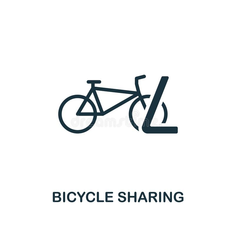 Bicycle Sharing icon. Premium style design from public transport icon collection. UI and UX. Pixel perfect Bicycle Sharing icon vector illustration