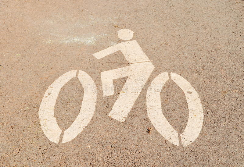 Download Bicycle sign stock image. Image of healthy, paint, bike - 28038339