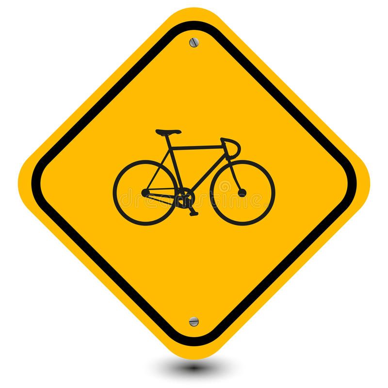 Bicycle sign stock illustration