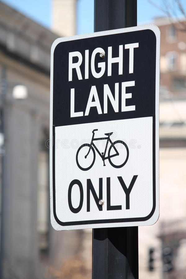 Bicycle Sign royalty free stock photography