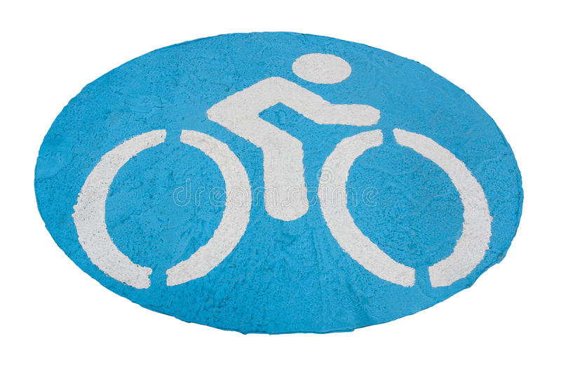 The bicycle signs. The bicycle signs, Isolated on white background royalty free stock image