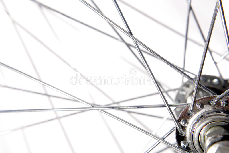 Bicycle spokes stock image