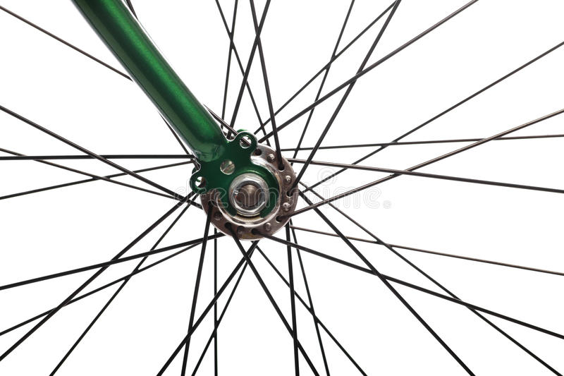 Bicycle spokes royalty free stock image